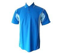Mizuno Mens DryLite Split Panel Golfer Polo Shirt (Royal Blue/Sky)