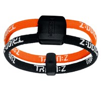 Trion Z Dual Loop Ionic Bracelet (Black/Orange)