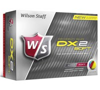 Wilson Staff DX2 Soft Yellow Golf Balls   12 Balls