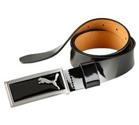 Puma Golf Mens Enamel Belt (Black)