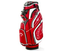 Callaway Euro Chev Luxury Cart Bag 2013 (Red/White)