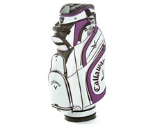 Callaway Euro Chev Luxury Cart Bag 2013 (White/Purple)