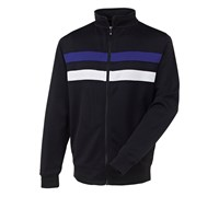 FootJoy Mens Performance Flat Back Rib Pullover 2013 (Black/Purple)