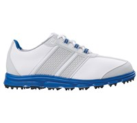 FootJoy Junior DryJoys Casual Spikeless Golf Shoes (White/Blue)