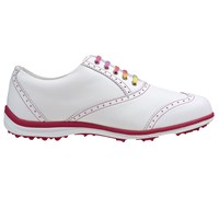 FootJoy Ladies LoPro Casual Spikeless Golf Shoes 2015 (White/Fuchsia)
