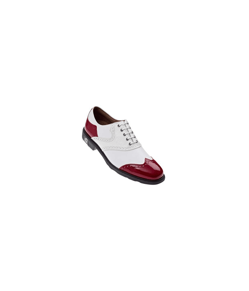 FootJoy Mens Icon Shoes (White/ Red Patent) 2013