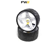 Powakaddy Sport/Freeway Trolley Wide Wheels Assembly (Pair)