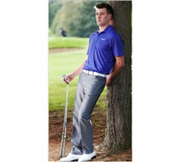 Stromberg Mens Belas Funky Golf Trouser (Silver/Lilac)