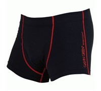 Galvin Green Mens Easton Skintight Boxer (Black/Chilli Red)