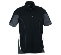 Galvin Green Mens Merwin Ventil8 Golf Shirt 2013 (Black/Gunmetal/White)