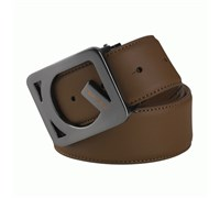 Galvin Green Web Leather Belt (Coffee)
