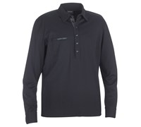 Galvin Green Mens Marlon Long Sleeve Golf Polo Shirt 2014 (Black)