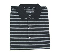 Greg Norman Mens Nitrolux Stripe Polo Shirt (Black)