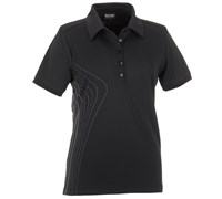 Galvin Green Ladies Mariah Ventil8 Golf Polo Shirt (Black/Gunmetal/White)