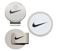 Nike Golf Hat Clip & Ball Marker (White/Black)
