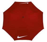 Nike 62 Inch VII Windproof Golf Umbrella (University Red/White)