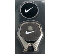 Nike Golf Hat Clip Ball Marker II (Silver)