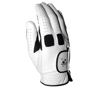 David Leadbetter Ladies Cabretta Leather Golf Gloves (White/Black)