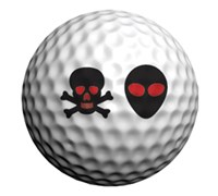 Golfdotz Golf Ball ID (Aliens & Skulls)