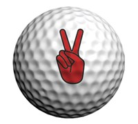 Golfdotz Golf Ball ID (Peace Dude)