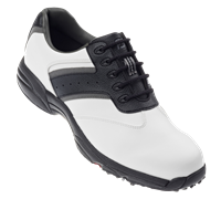 FootJoy Mens Greenjoys Golf Shoes 2012 (White/Black/Charcoal)