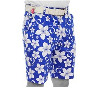 Royal And Awesome Hawaii Five Oh Golf Shorts (Blue/White)