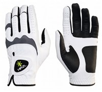 HIRZL Mens Hybrid Golf Glove 2014 (Black/White/Grey)