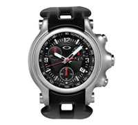 Oakley Mens Holeshot Chronograph Watch (Black/Black)