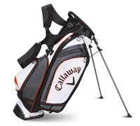 Callaway Golf Hyper-Lite 5 Stand Bag 2014 (White/Black/Orange)