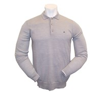 J Lindeberg Gerson True Merino Knit Polo 2013 (Stone Grey)