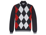 Lyle and Scott Mens Argyle Half Zip Pullover 2013