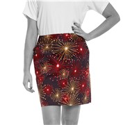 Royal And Awesome Ladies Ka-Boom Golf Skort (Multi Coloured)