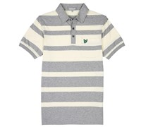 Lyle and Scott Mens Club Bold Stripe Polo Shirt (Cool Grey Melange)