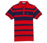 Lyle and Scott Mens Club Bold Stripe Polo Shirt (Scooter Red)