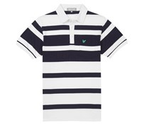 Lyle and Scott Mens Club Bold Stripe Polo Shirt (White)