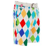 Royal and Awesome King Of Diamonds Golf Shorts (Multi Coloured)