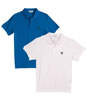 Lyle and Scott Mens Green Eagle Pique Polo Shirt