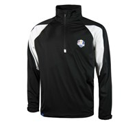 Glenmuir Mens Ryder Cup Kinross Long Sleeve Windshirt (Black/White)