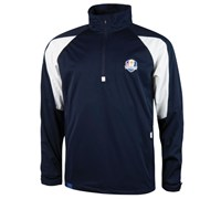 Glenmuir Mens Ryder Cup Kinross Long Sleeve Windshirt (Navy/White)