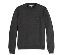 Lyle and Scott Mens Crew Neck Cotton Jumper 2014 (Charcoal)