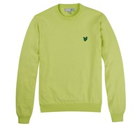 Lyle and Scott Mens Crew Neck Cotton Jumper 2014 (Lime)