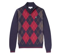 Lyle and Scott Mens Argyle Half Zip Jumper 2014 (New Navy)