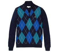 Lyle and Scott Mens 1/4 Zip Agryle Pullover 2014 (Duke Blue)