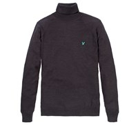Lyle and Scott Mens Roll Neck Jumper 2014 (Gunmetal)