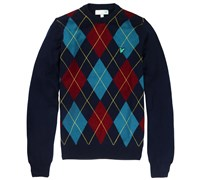 Lyle and Scott Mens Agryle Crew Neck Jumper 2014 (New Navy)