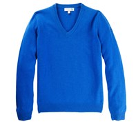 Lyle and Scott Mens Classic Lambswool V-Neck Jumper 2014 (Blue)