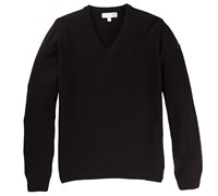 Lyle and Scott Mens Classic Lambswool V-Neck Jumper 2014 (Black)