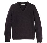 Lyle and Scott Mens Classic Lambswool V-Neck Jumper 2014 (Charcoal Melange)
