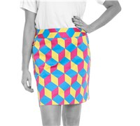 Royal And Awesome Ladies Knicker Blocker Glory Golf Skort (Multi Coloured)