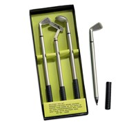 Miniature Golf Club Pens Gift Set